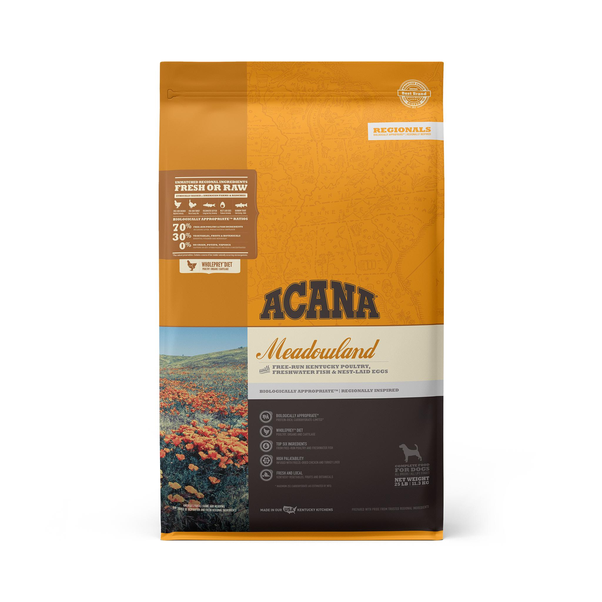 ACANA Regionals Meadowland Grain-Free Dry Dog Food, 25-lb Size: 25-lb