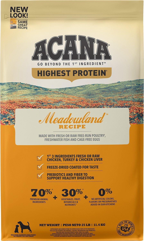 ACANA Regionals Meadowland Grain-Free Dry Dog Food, 25-lb Size: 25-lb