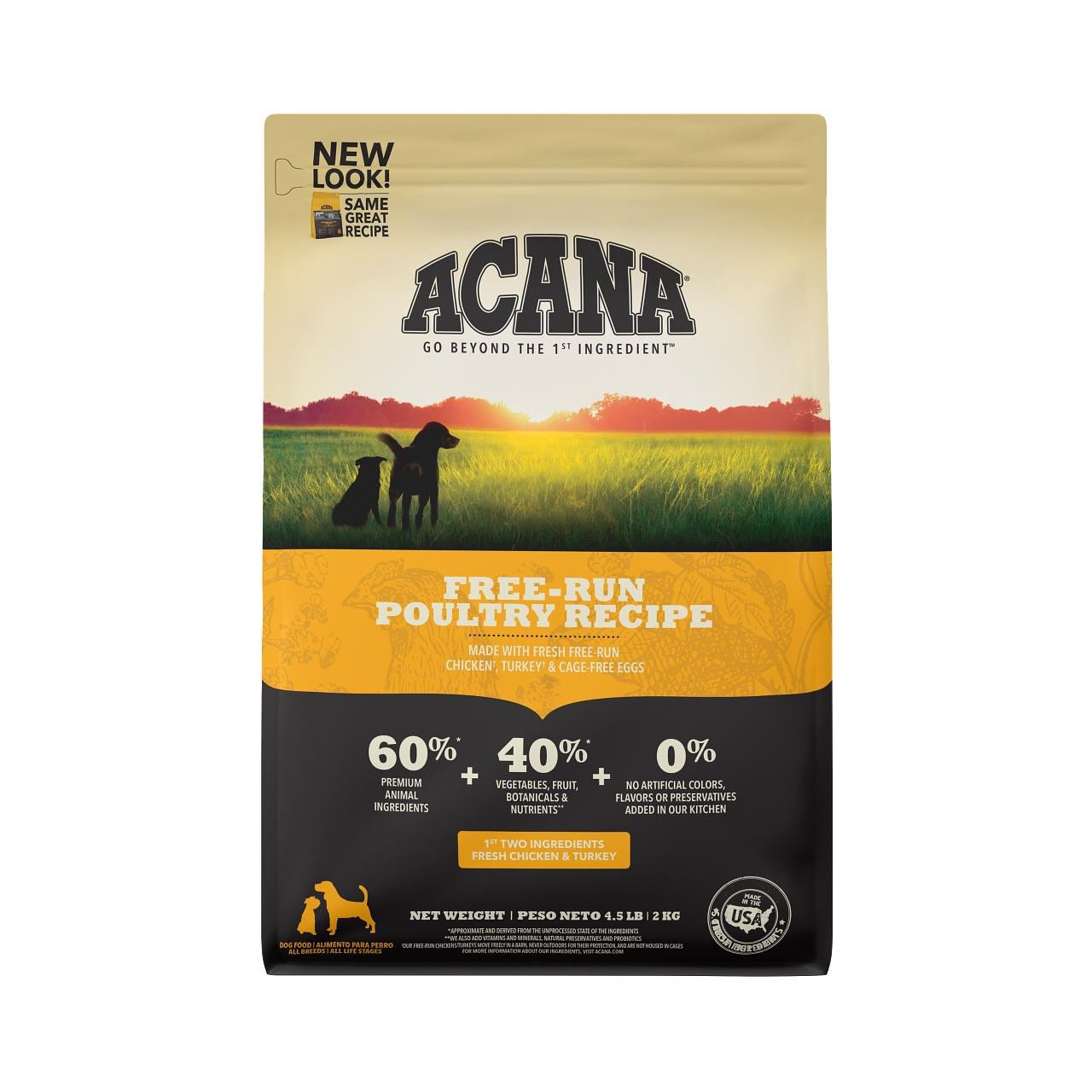 ACANA Free-Run Poultry Grain-Free Dry Dog Food, 4.5-lb