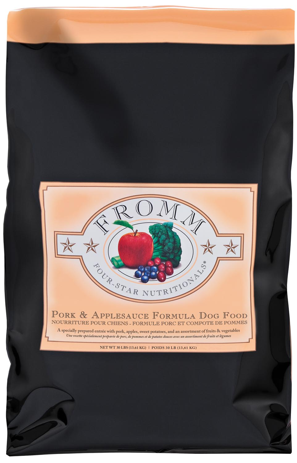 Fromm Four Star Pork and Apple Sauce Formula Dry Dog Food, 5-lb