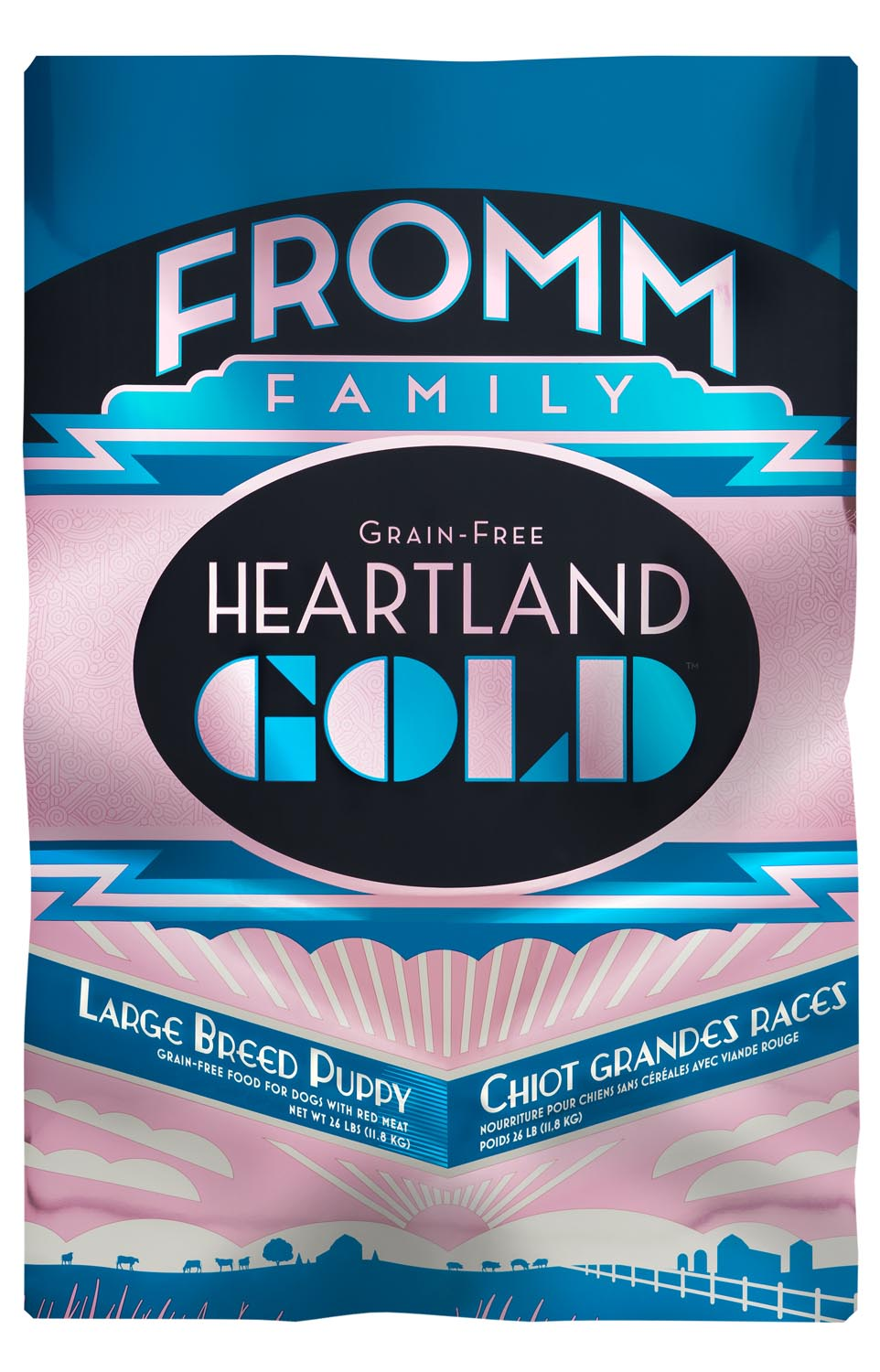 Fromm Heartland Gold Grain Free Large Breed Puppy Dry Dog Food, 12-lb