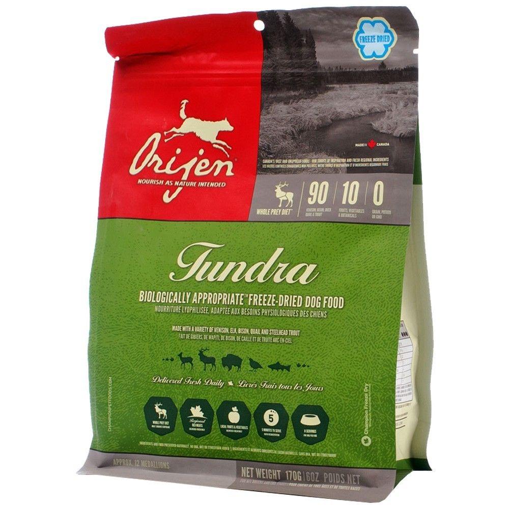 ORIJEN Tundra Grain-Free Freeze-Dried Dog Food, 12-oz