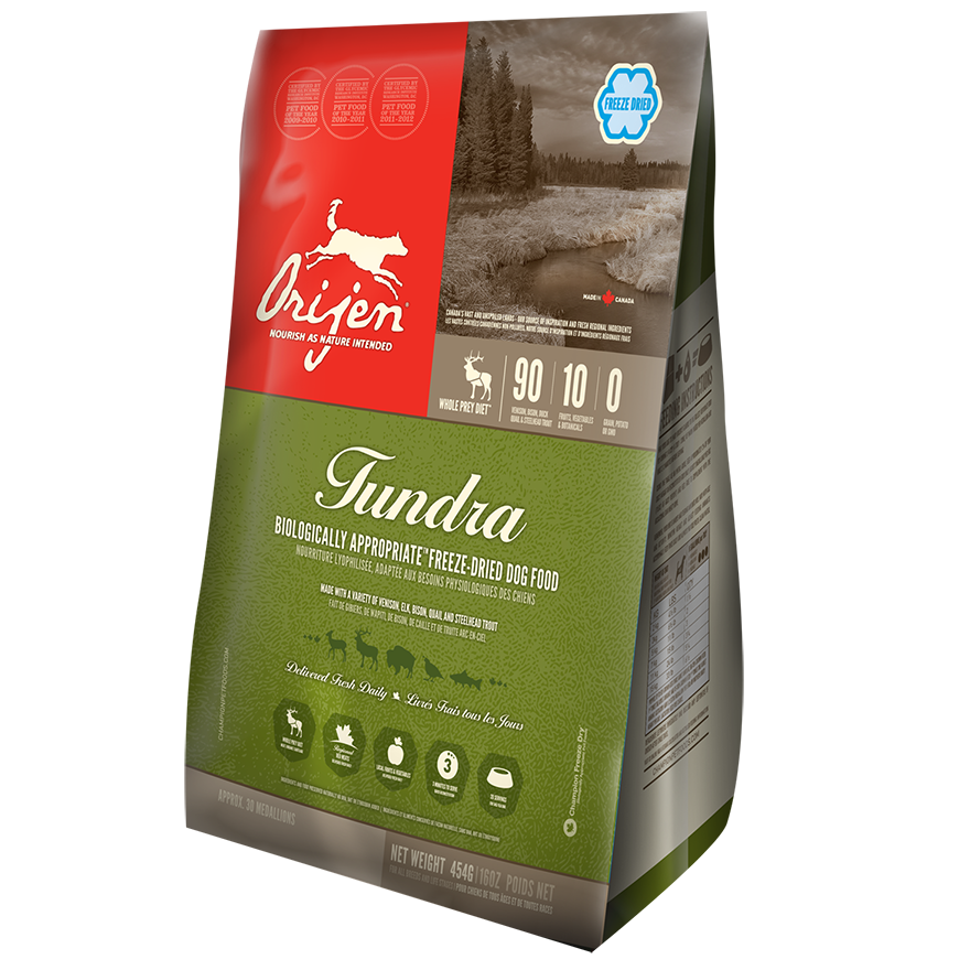 ORIJEN Tundra Grain-Free Freeze-Dried Dog Food, 16-oz
