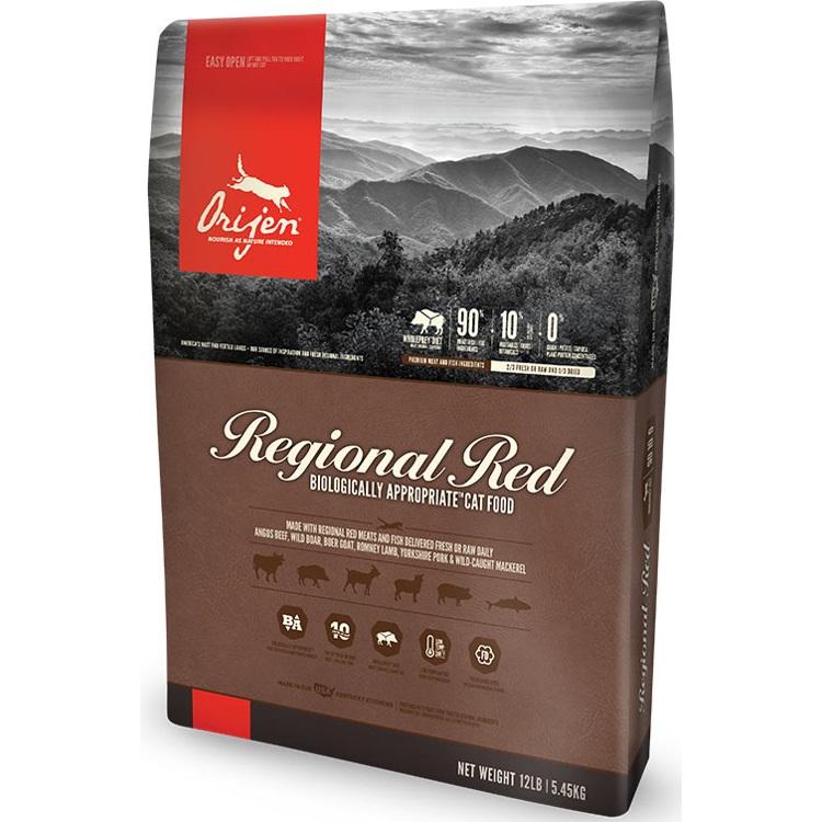 ORIJEN Grain Free Regional Red Dry Cat Food, 4-lb