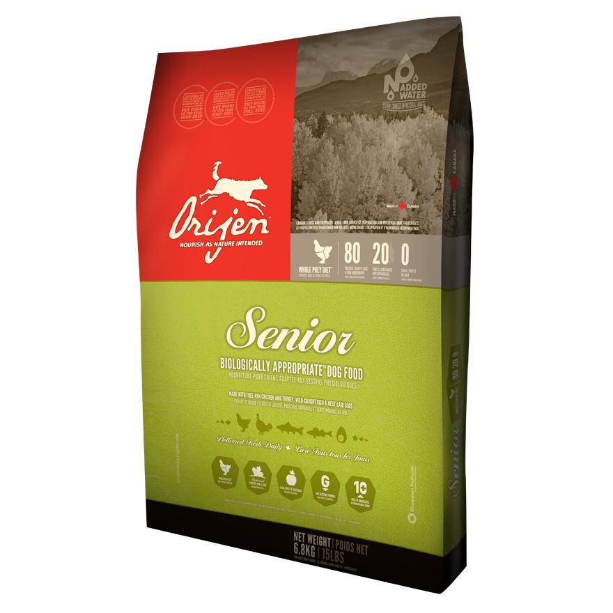 ORIJEN Senior Dry Dog Food, 25-lb
