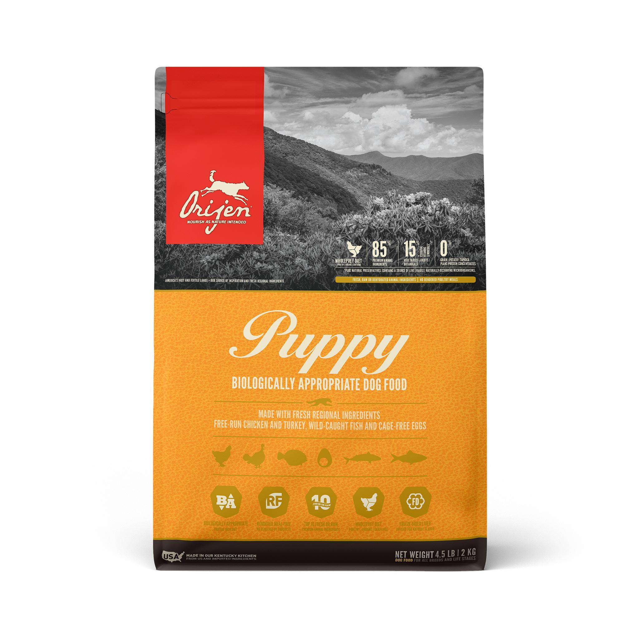 ORIJEN Puppy Grain-Free Dry Dog Food, 4.5-lb