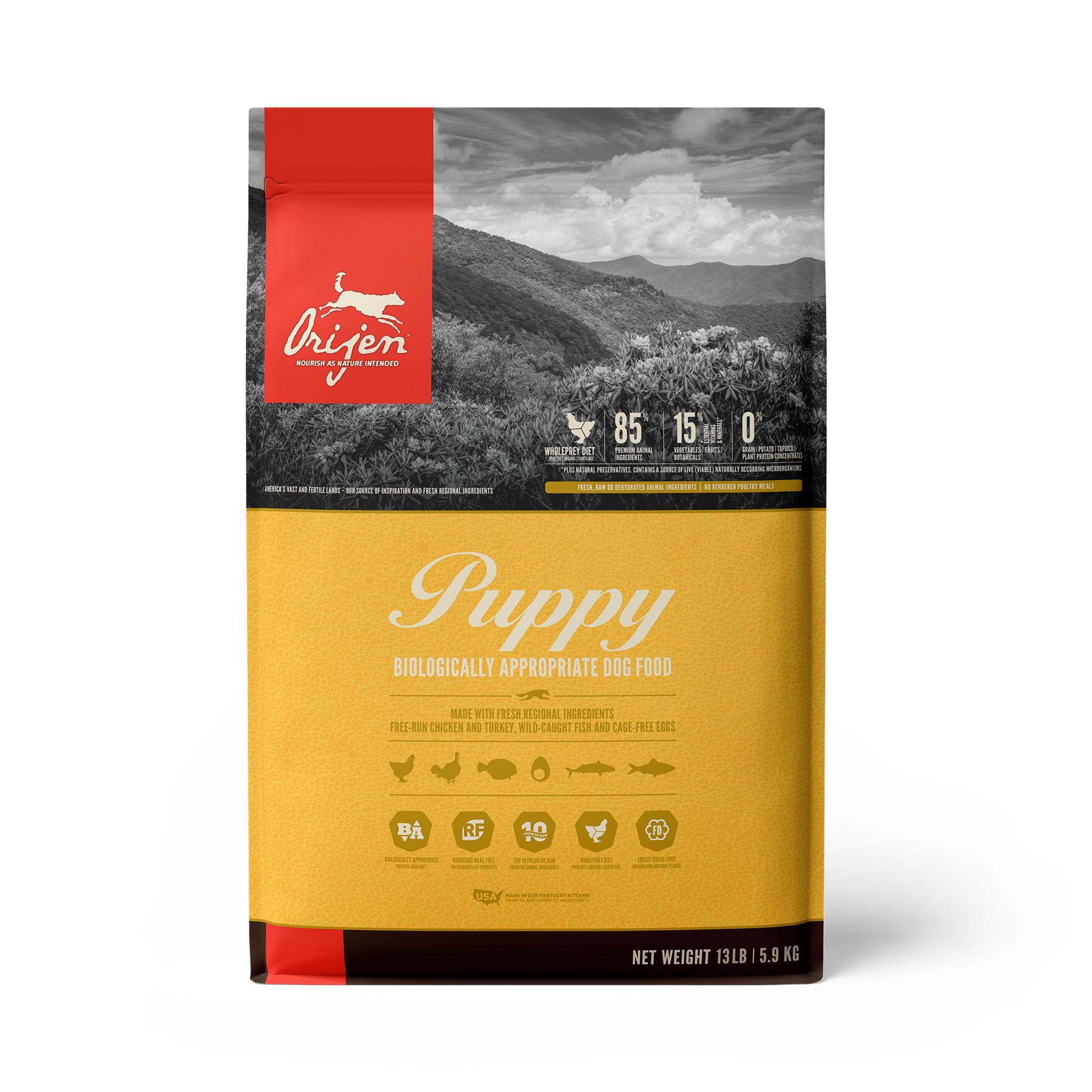 ORIJEN Puppy Grain-Free Dry Dog Food, 13-lb