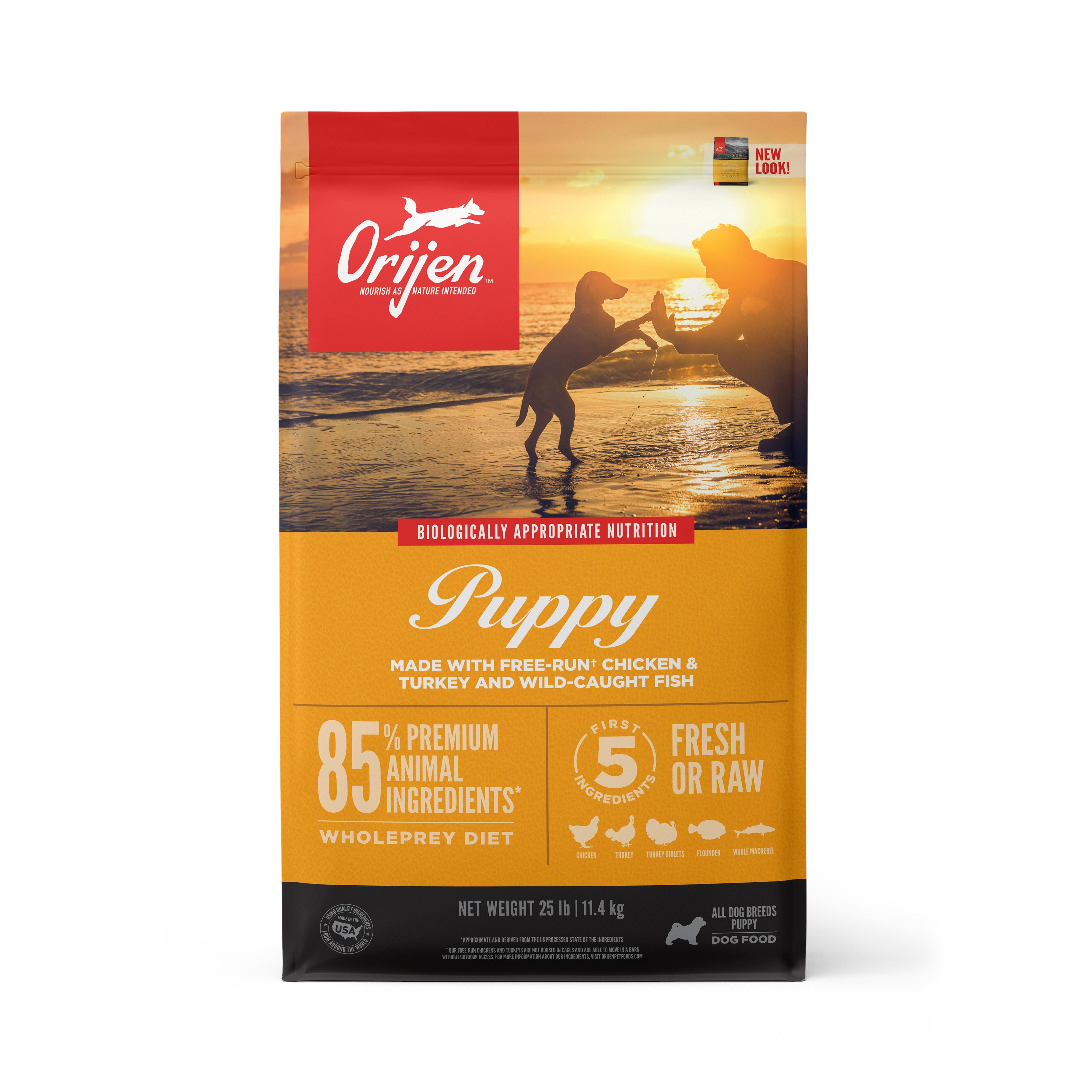 ORIJEN Puppy Grain-Free Dry Dog Food, 25-lb