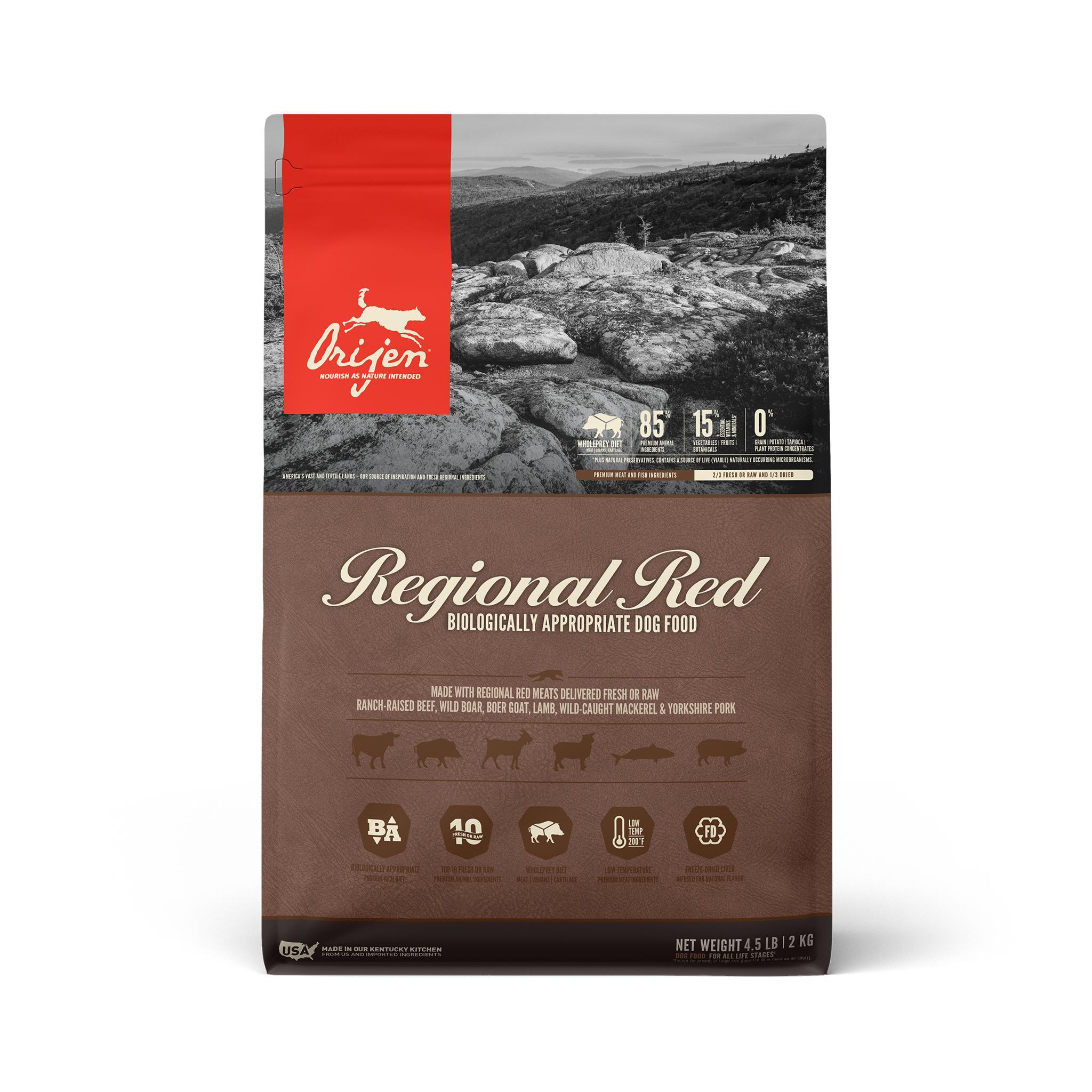 ORIJEN Regional Red Grain-Free Dry Dog Food, 4.5-lb