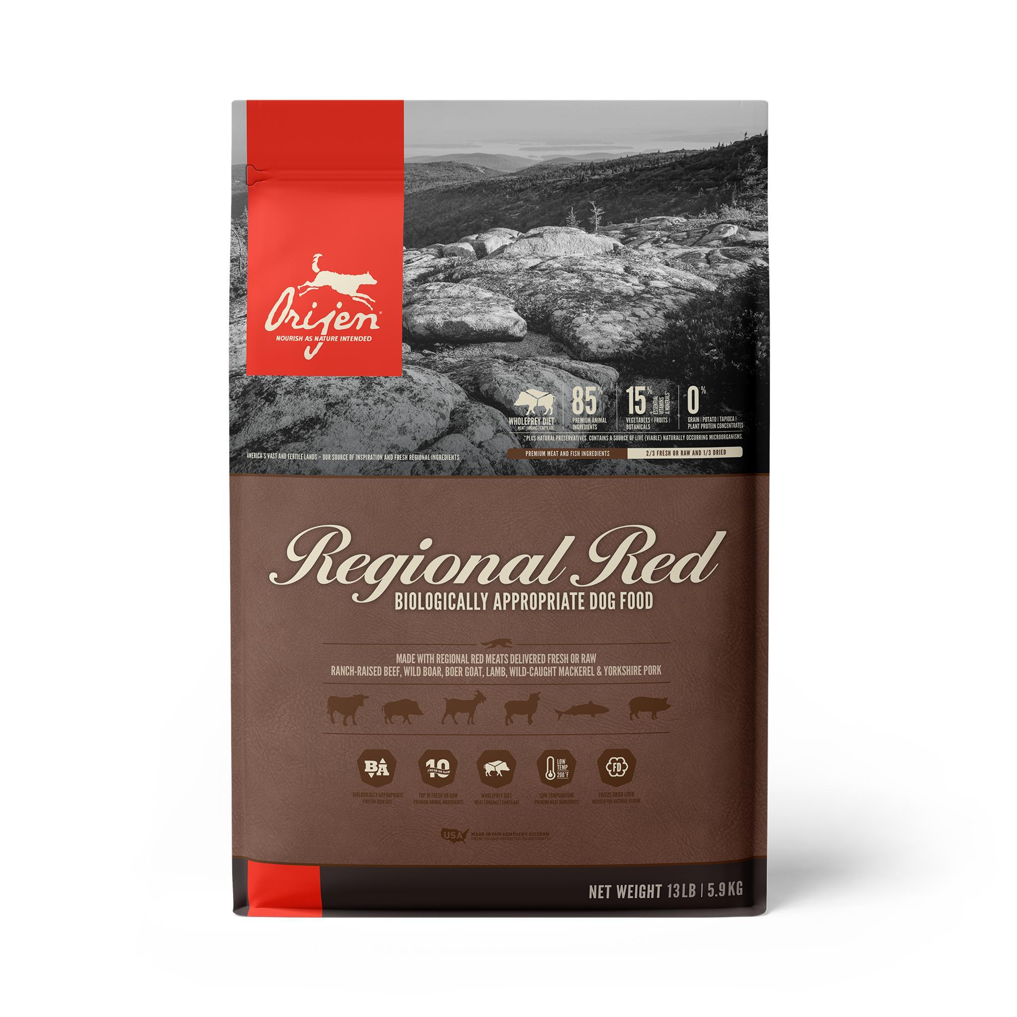 ORIJEN Regional Red Grain-Free Dry Dog Food, 13-lb