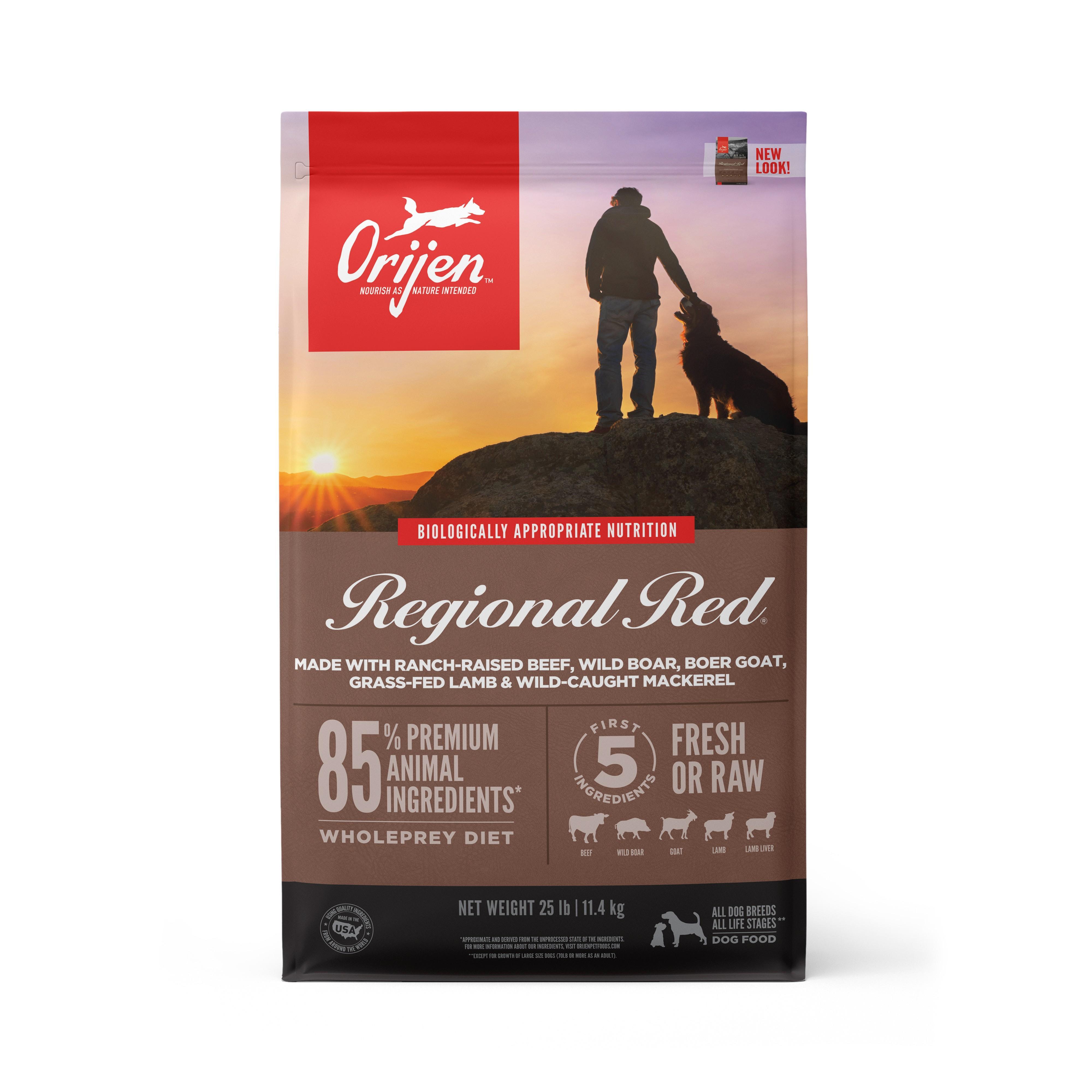 ORIJEN Regional Red Grain-Free Dry Dog Food, 25-lb