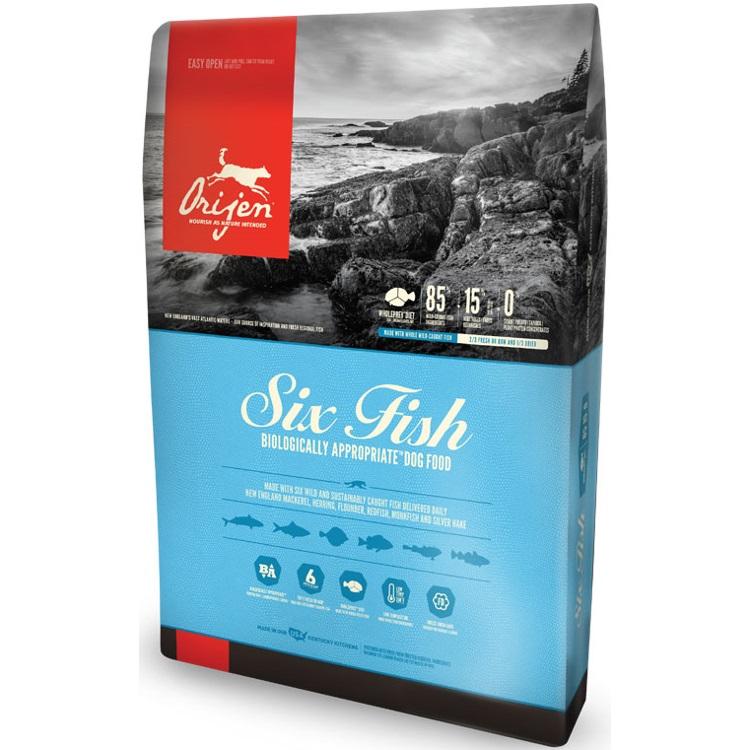 ORIJEN Six Fish Dry Dog Food, 25-lb