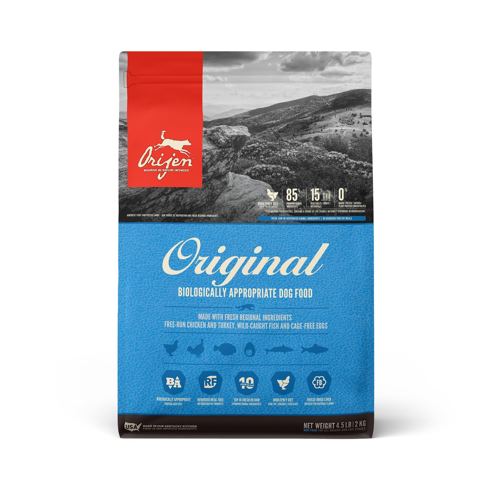 ORIJEN Original Grain-Free Dry Dog Food, 4.5-lb