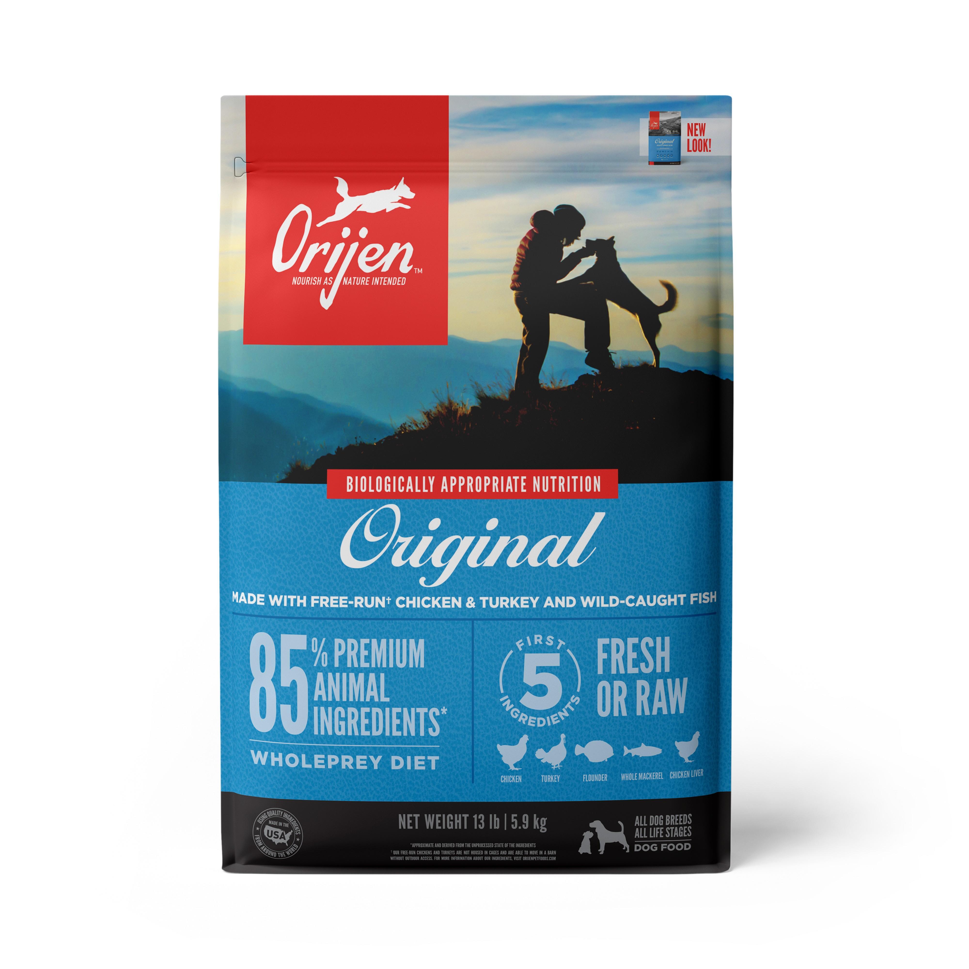 ORIJEN Original Grain-Free Dry Dog Food, 13-lb