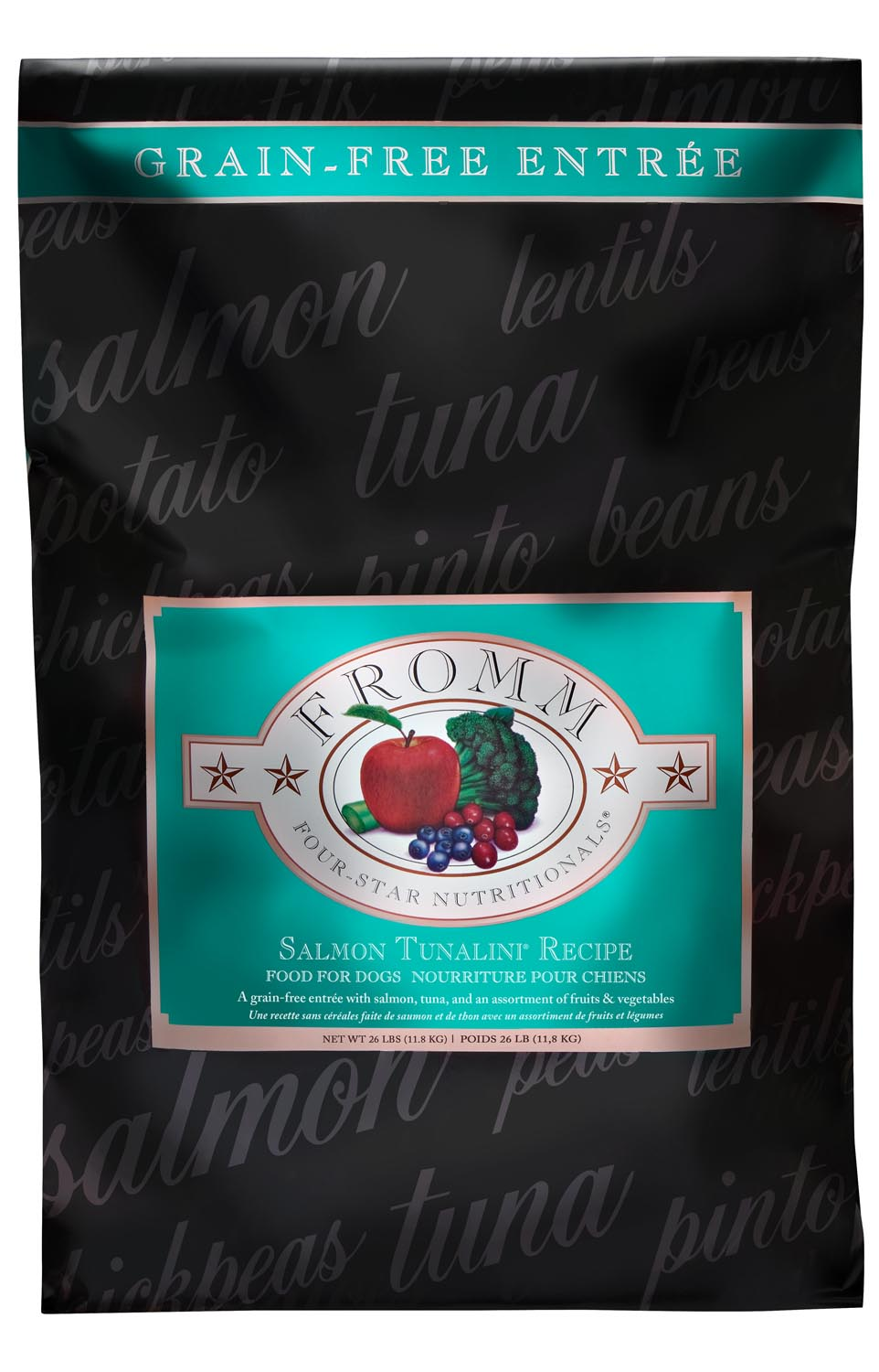 Fromm Four Star Grain Free Salmon Tunalini Dry Dog Food, 12-lb