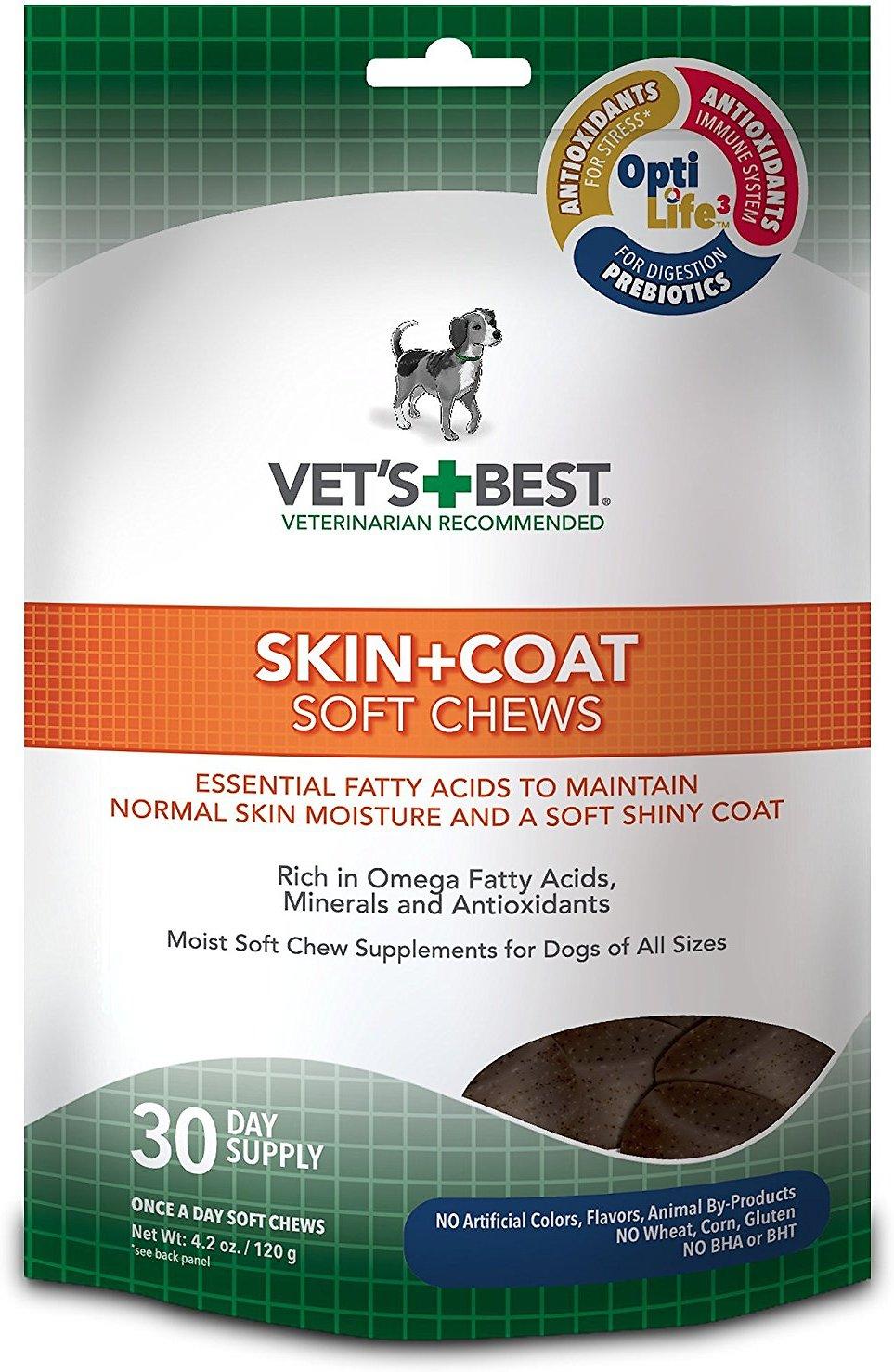 Vet's Best Skin + Coat Soft Chews Dog Supplement, 30 count Image