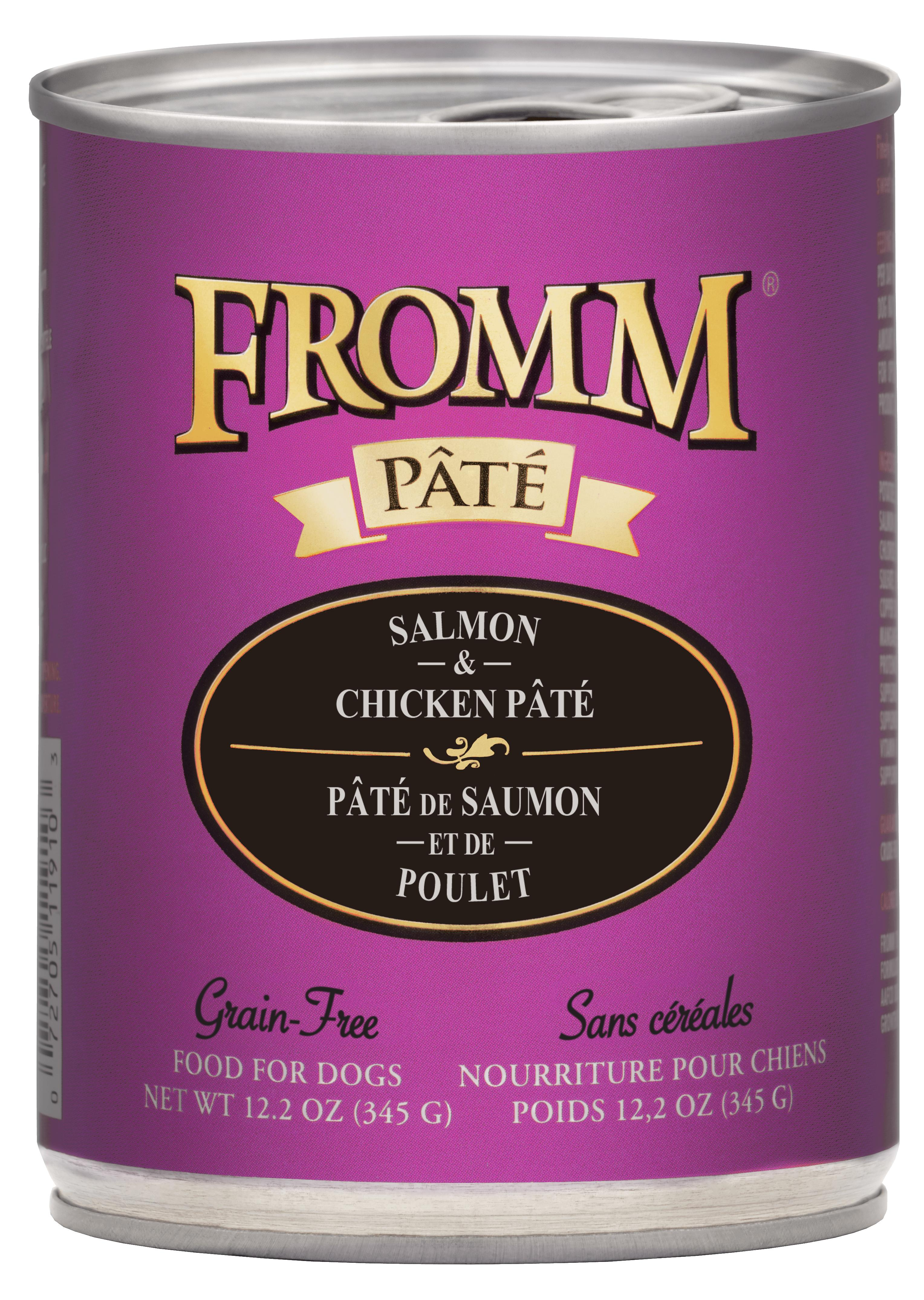Fromm Salmon & Chicken Pate Canned Dog Food, 12.2-oz