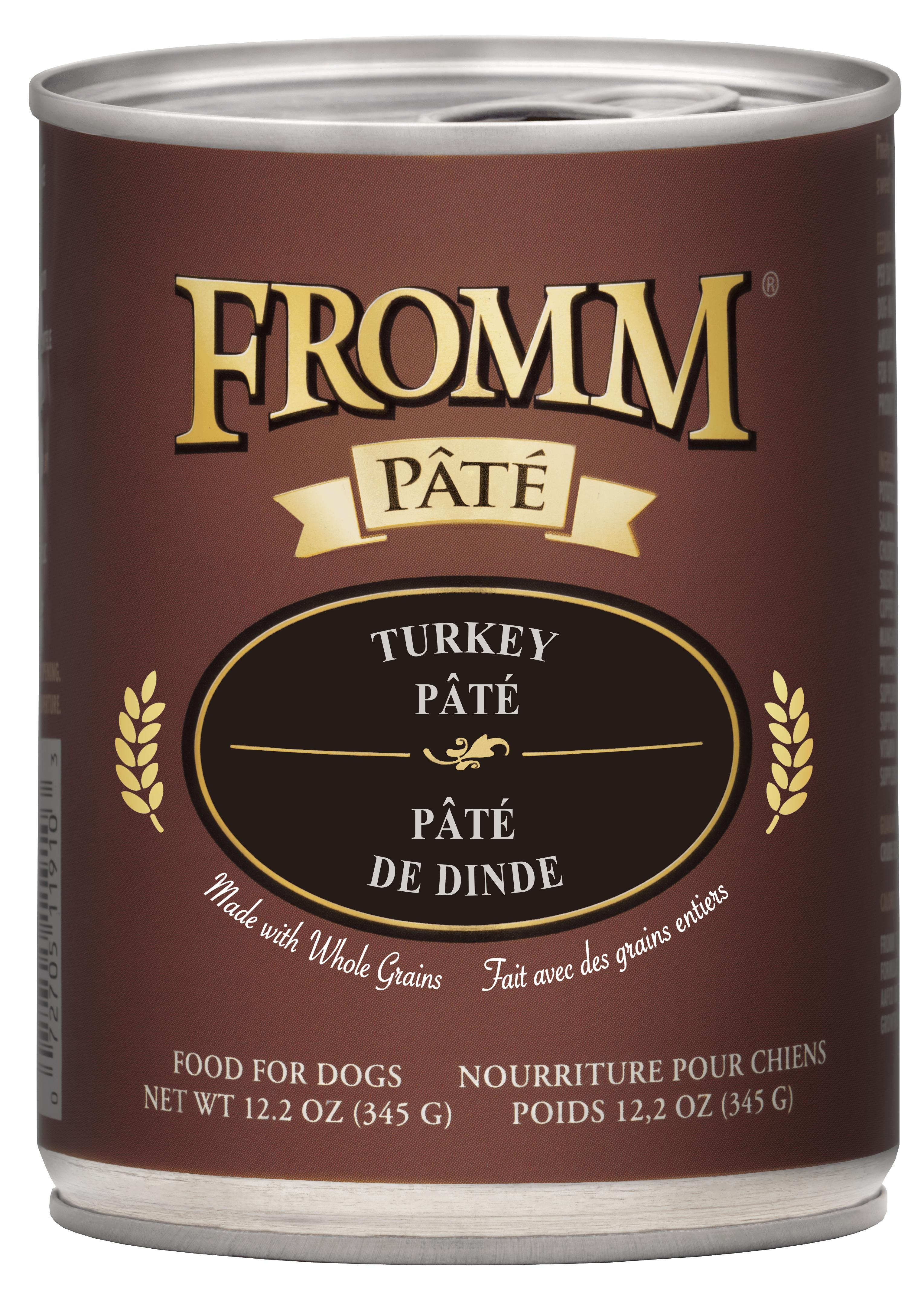 Fromm Turkey Pate Canned Dog Food, 12.2-oz