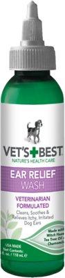 Vet's Best Ear Relief Wash for Dogs, 4-oz bottle