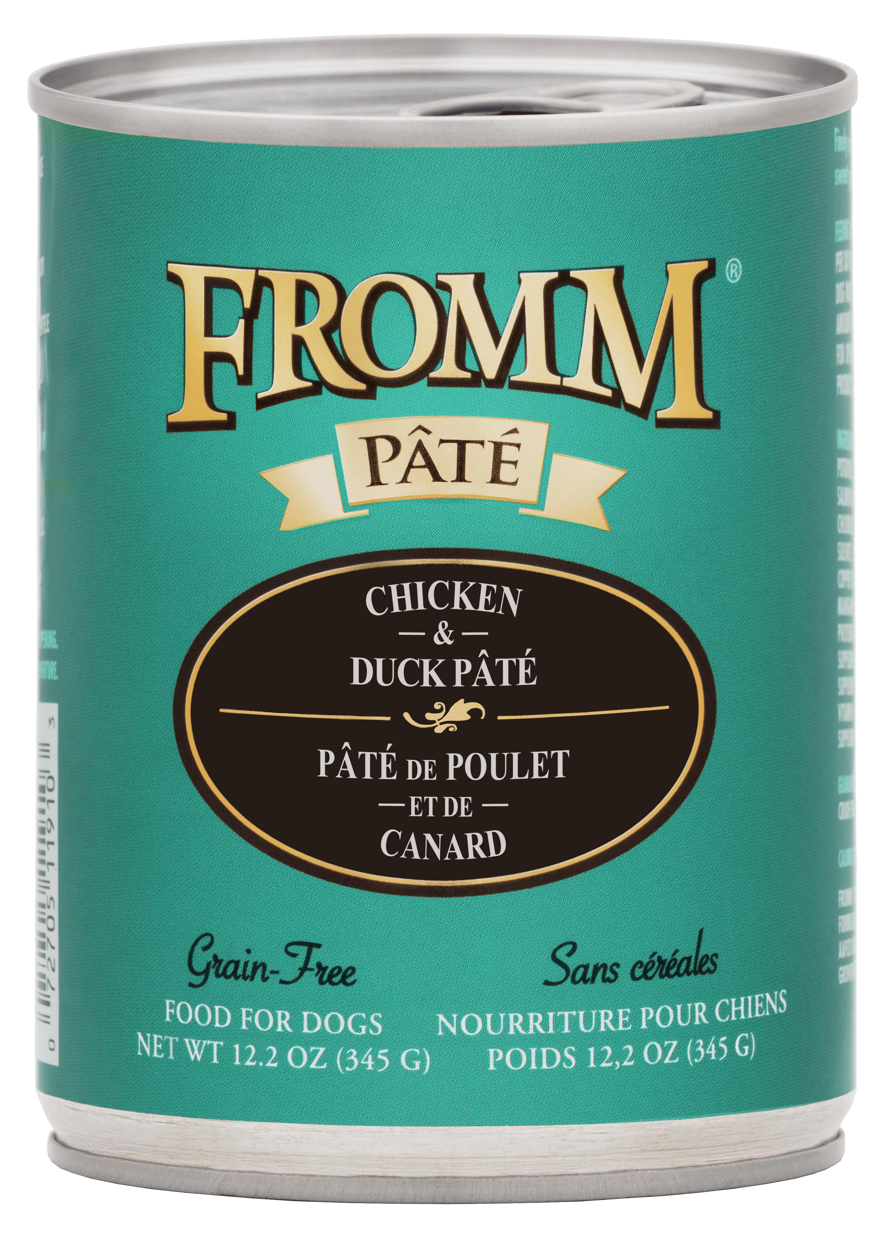 Fromm Chicken & Duck Pate Canned Dog Food, 12.2-oz