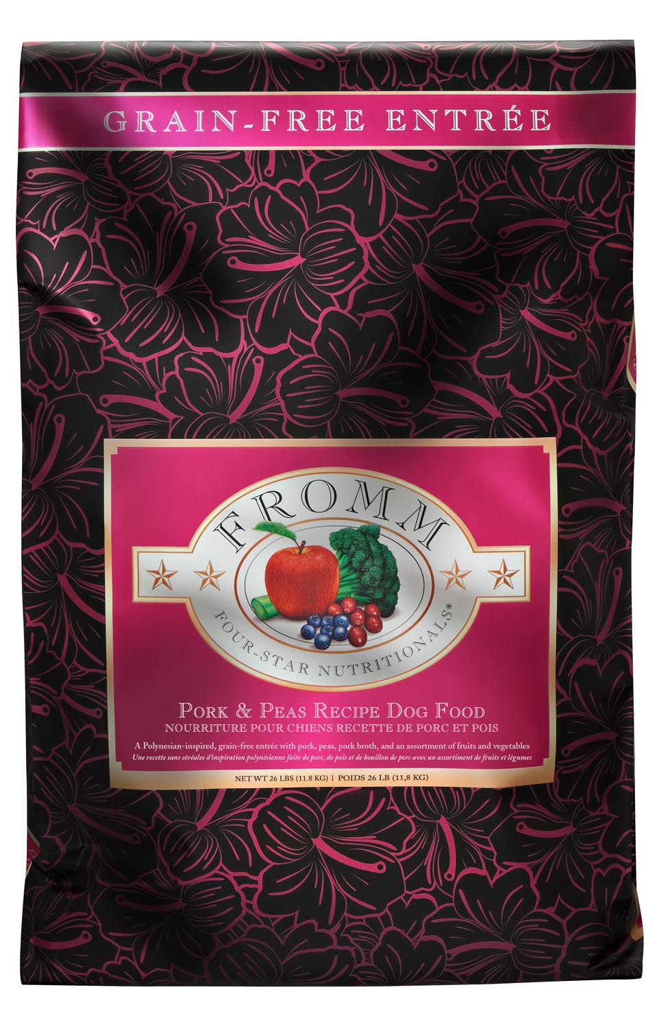 Fromm Four Star Grain Free Pork and Peas Recipe Dry Dog Food, 4-lb