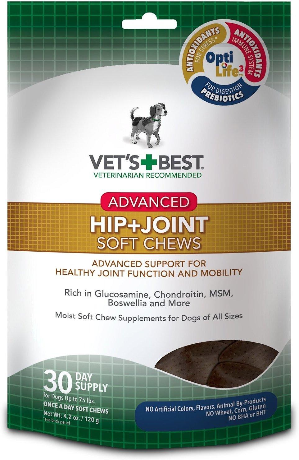 Vet's Best Advanced Hip + Joint Soft Chews Dog Supplement, 30 count Image