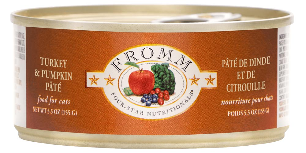 Fromm Four Star Grain Free Turkey & Pumpkin Pate Canned Cat Food, 5.5-oz