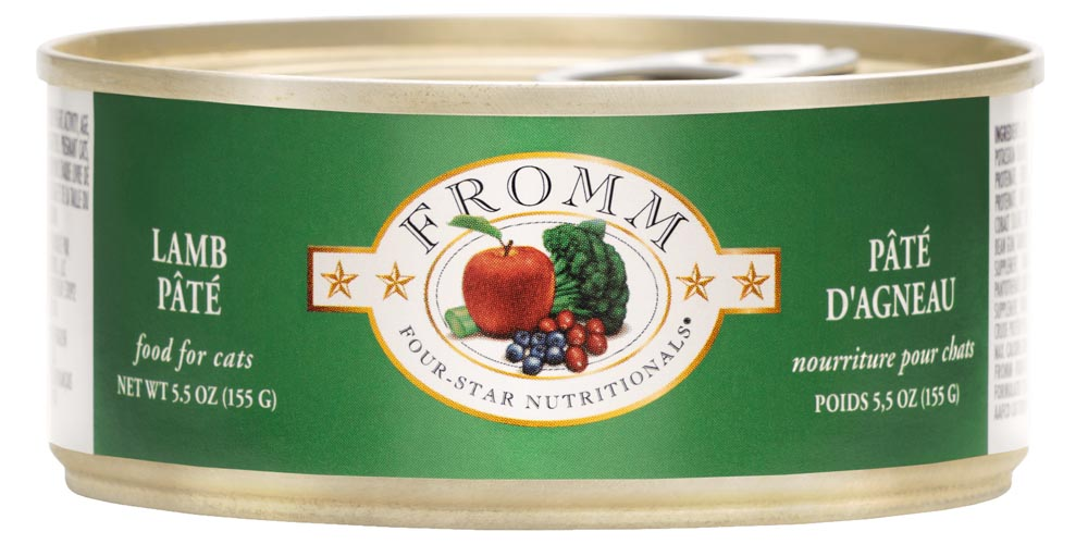 Fromm Four Star Lamb Pate Canned Cat Food, 5.5-oz