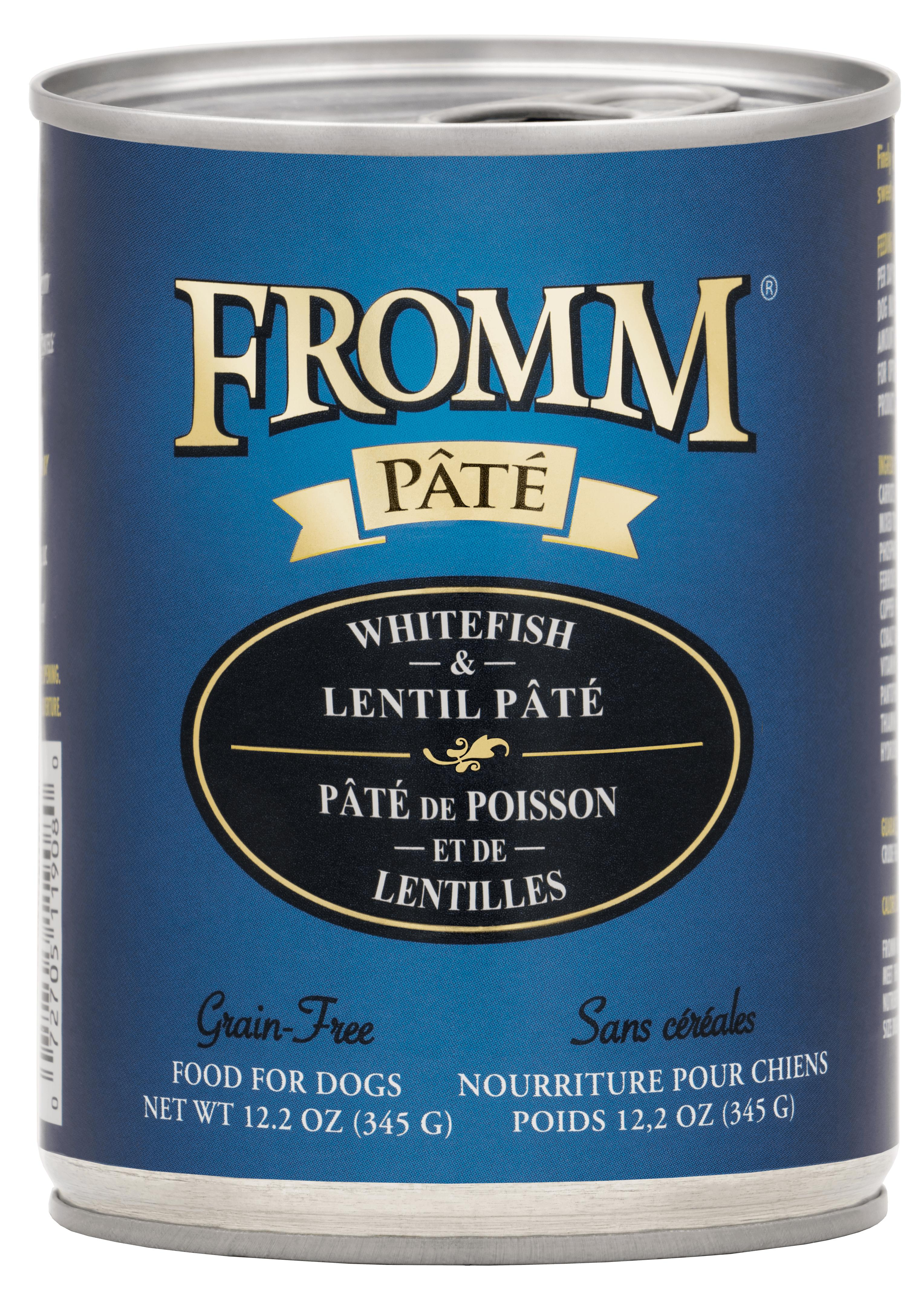 Fromm Whitefish & Lentil Pate Canned Dog Food, 12.2-oz