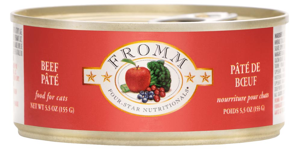 Fromm Four Star Beef Pate Canned Cat Food, 5.5-oz