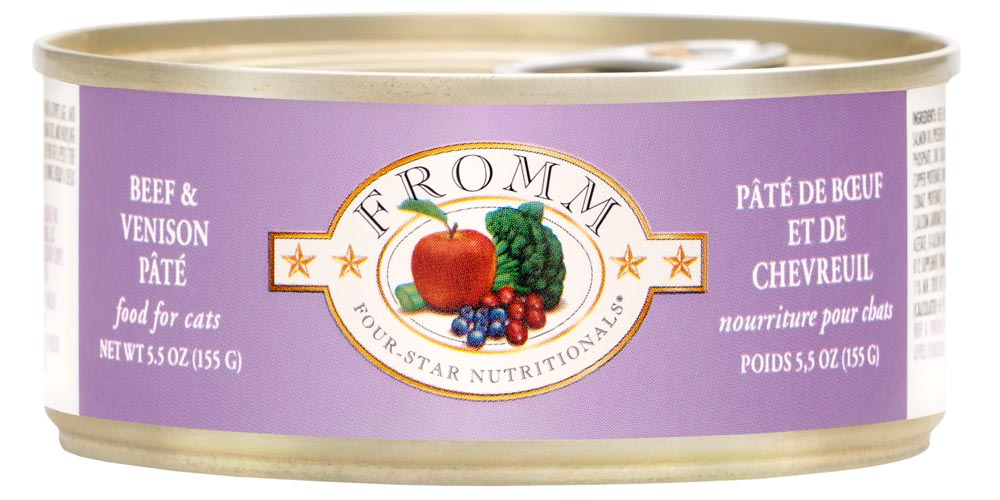 Fromm Four Star Beef & Venison Pate Canned Cat Food, 5.5-oz, case of 12