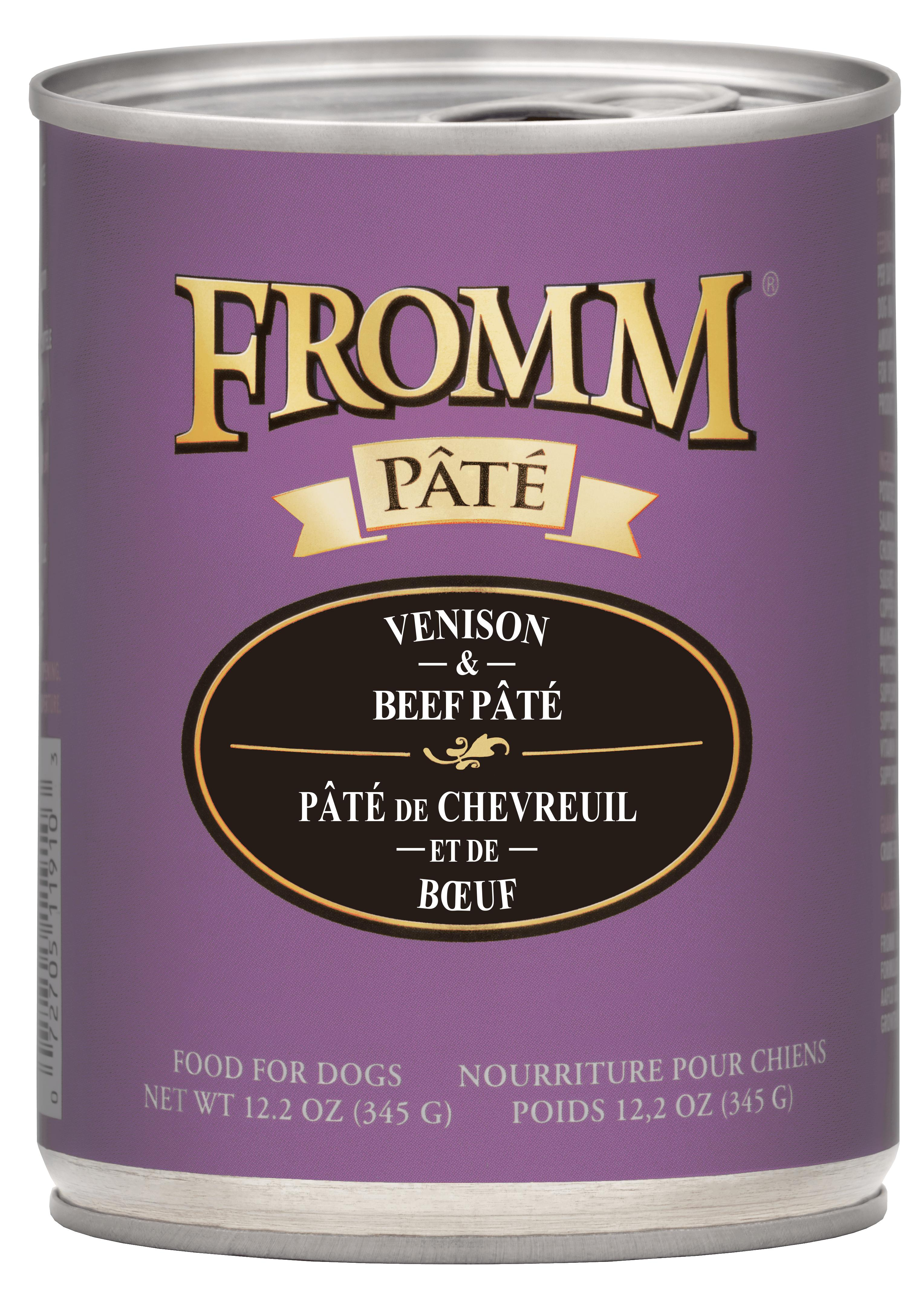 Fromm Venison & Beef Pate Canned Dog Food, 12.2-oz, case of 12