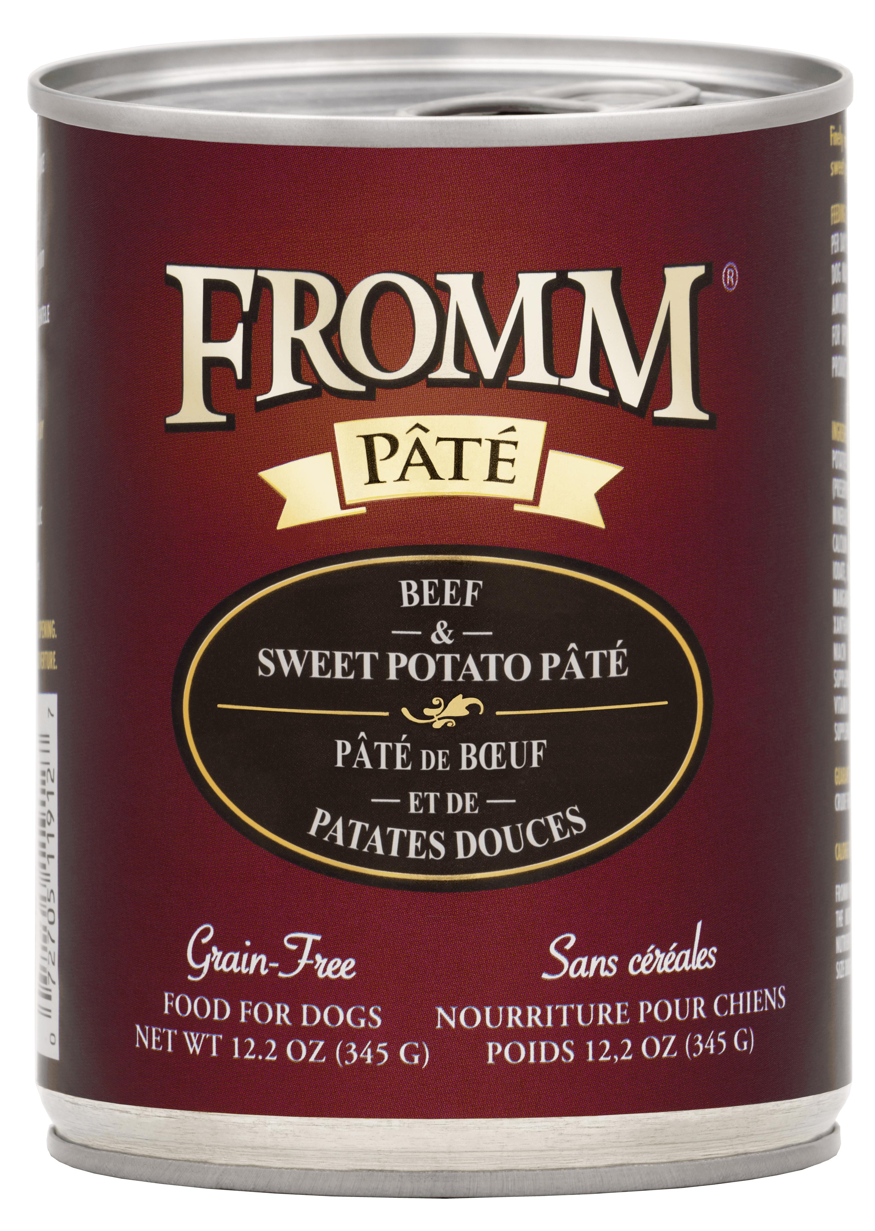 Fromm Beef & Sweet Potato Pate Canned Dog Food, 12.2-oz