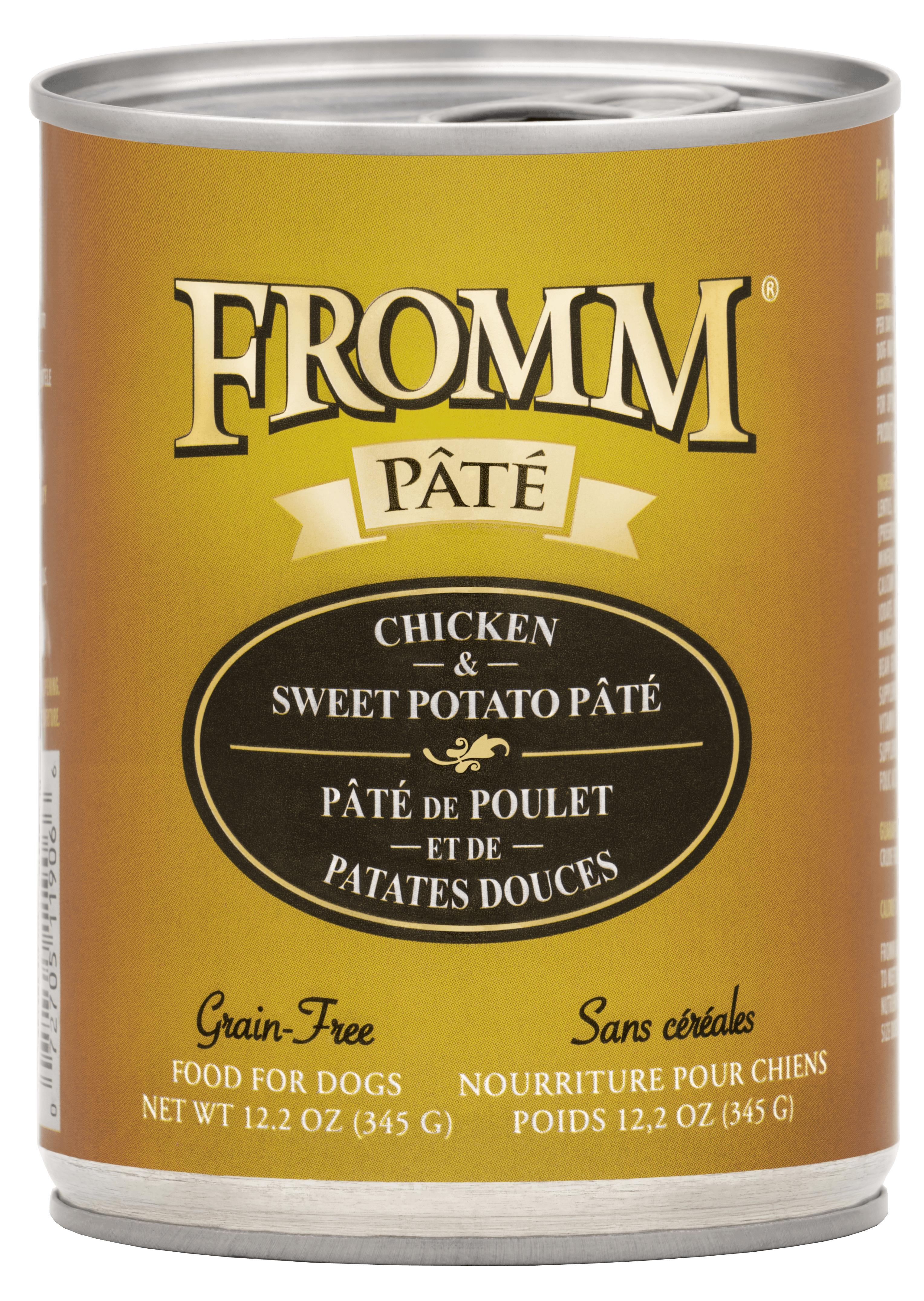Fromm Chicken & Sweet Potato Pate Canned Dog Food, 12.2-oz