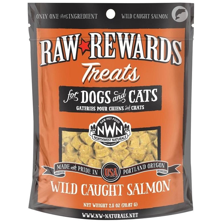 Northwest Naturals Raw Rewards Salmon Freeze Dried Dog & Cats Treats, 2.5-oz