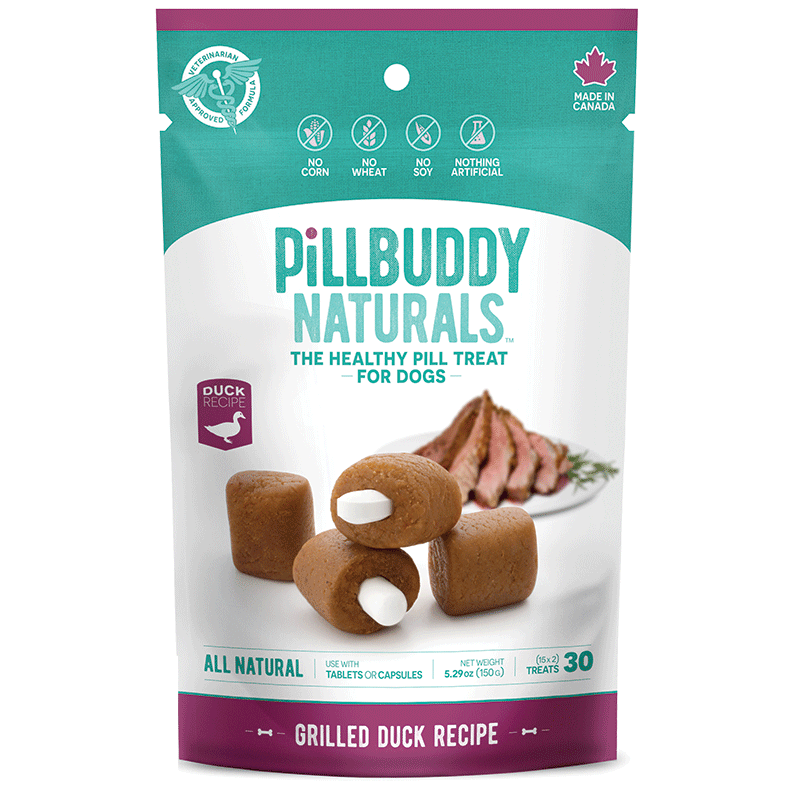 Presidio Pill Buddy Naturals Grilled Duck Pill/Capsule Dog Treats, 150-gram
