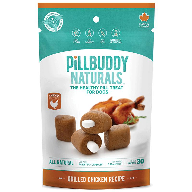 Presidio Pill Buddy Naturals Roasted Chicken Pill/Capsule Dog Treats, 150-gram