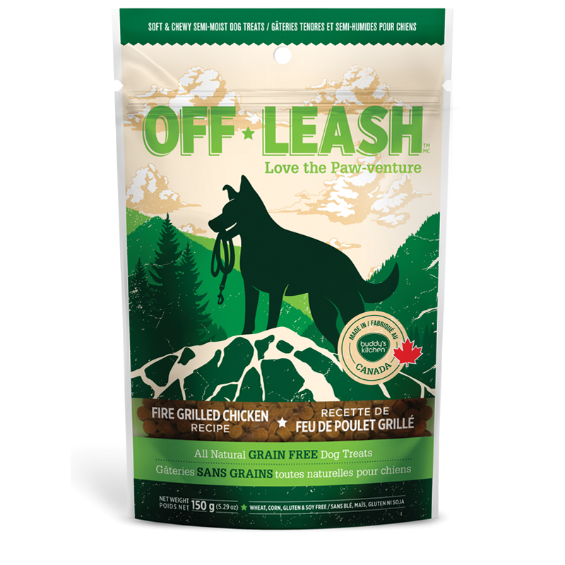 Off Leash Soft & Chewy Grilled Chicken Dog Treats 5.29z