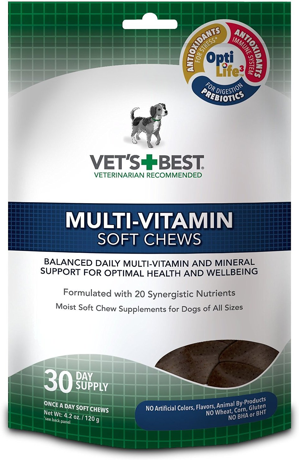 Vet's Best Multi-Vitamin Soft Chews Dog Supplement, 30 count Image