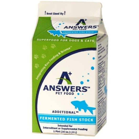Answers Additional Fermented Fish Stock for Dogs & Cats, 1-pt