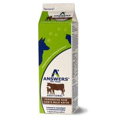 Answers Additional Fermented Raw Cow Milk Kefir for Cats & Dogs, 1-qt