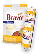 Bravo Balance Chicken Chub Roll Raw Frozen Dog Food, 5-lb