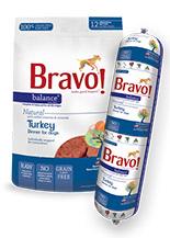 Bravo Balance Turkey Chub Roll Raw Frozen Dog Food, 5-lb