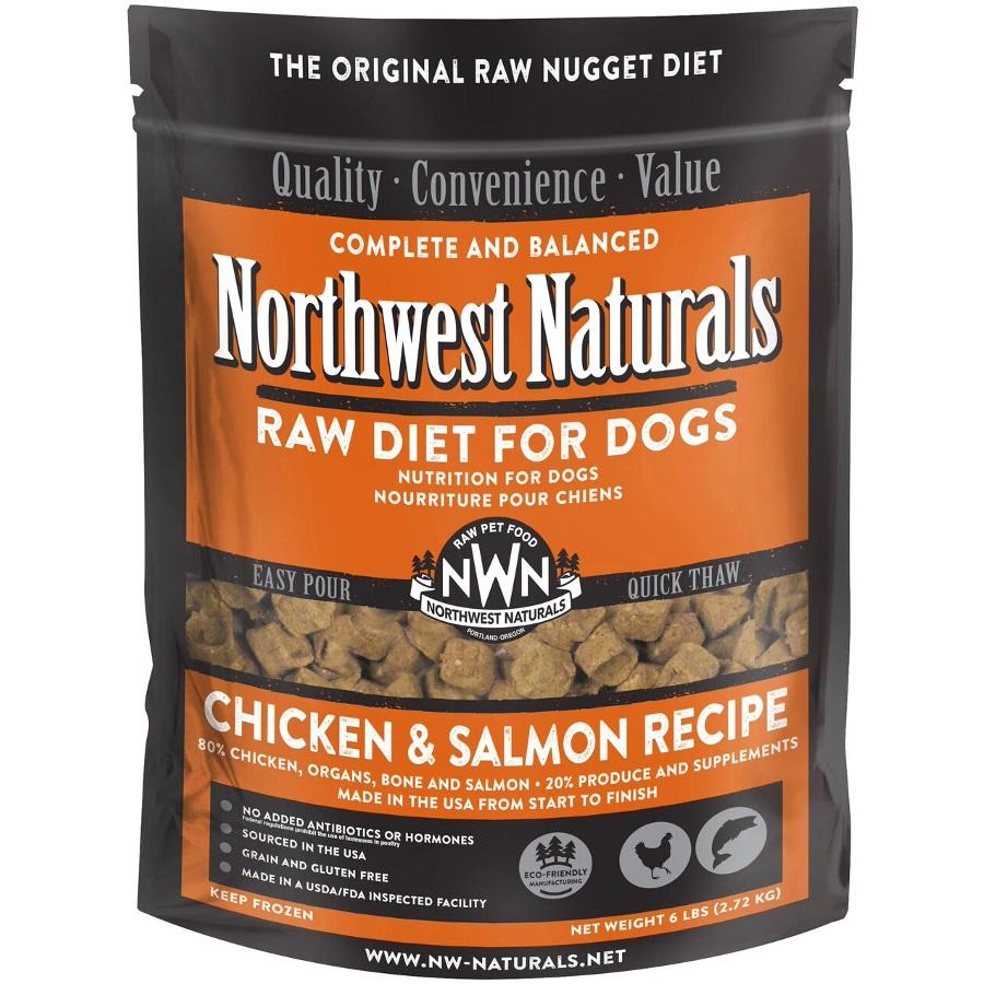 Northwest Naturals Raw Diet Grain-Free Chicken & Salmon Nuggets Raw Frozen Dog Food, 6-lb
