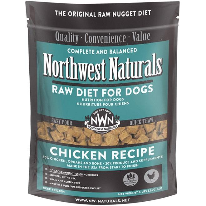 Northwest Naturals Raw Diet Grain-Free Chicken Nuggets Raw Frozen Dog Food, 6-lb