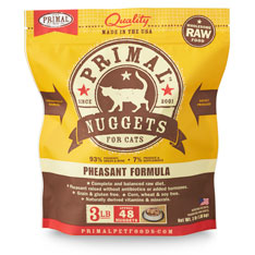 Primal Raw  Nuggets Pheasant Formula Raw Frozen Cat Food, 3-lbs