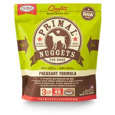 Primal Raw 1-oz Nuggets Pheasant Formula Raw Frozen Dog Food, 3-lbs