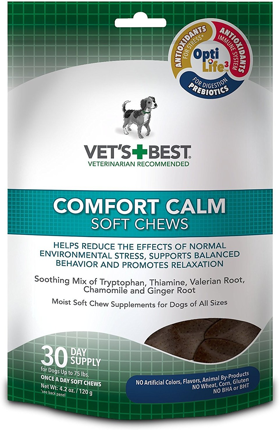 Vet's Best Comfort Calm Soft Chews Dog Supplement, 30 count