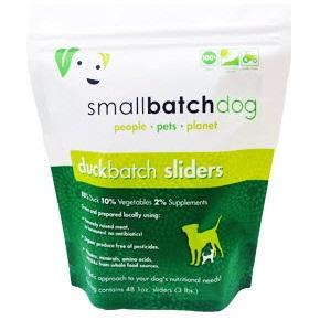 Small Batch Dog Duck Batch 1-oz Sliders Raw Frozen Dog Food, 3-lb