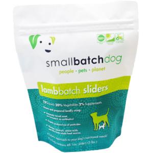 Small Batch Dog lamb Batch 1-oz Sliders Raw Frozen Dog Food, 3-lb